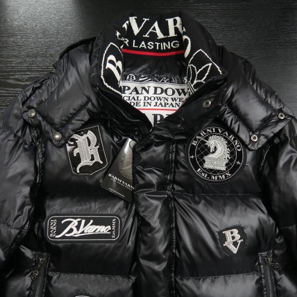 バーニヴァーノ ダウンジャケット 黒 Lサイズ BAW-HDB3007-09 BARNI VARNO 新作|wanwan|03