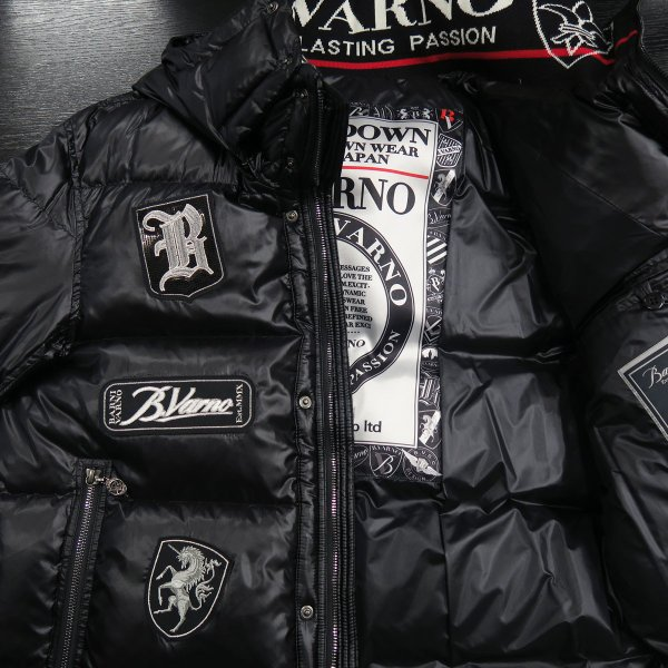 バーニヴァーノ ダウンジャケット 黒 Lサイズ BAW-HDB3007-09 BARNI VARNO 新作|wanwan|10