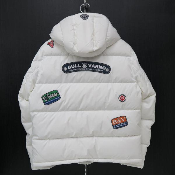 バーニヴァーノ ダウンジャケット 白 Lサイズ BAW-HDB3009-01 BARNI VARNO 新作|wanwan|02