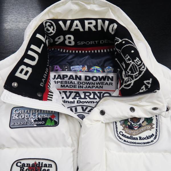 バーニヴァーノ ダウンジャケット 白 Lサイズ BAW-HDB3009-01 BARNI VARNO 新作|wanwan|04