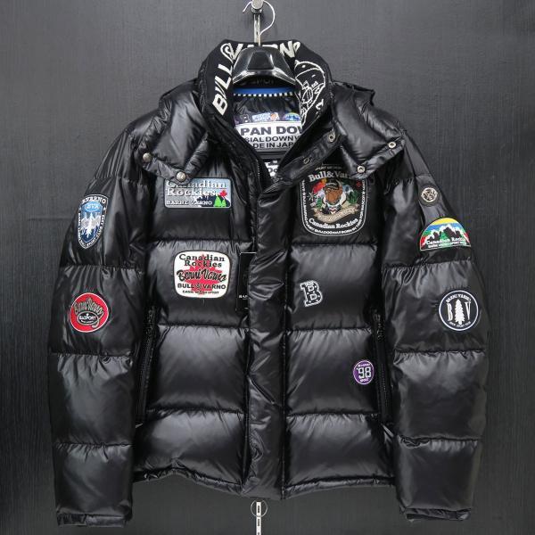バーニヴァーノ ダウンジャケット 黒 Lサイズ BAW-HDB3009-09 BARNI VARNO 新作|wanwan