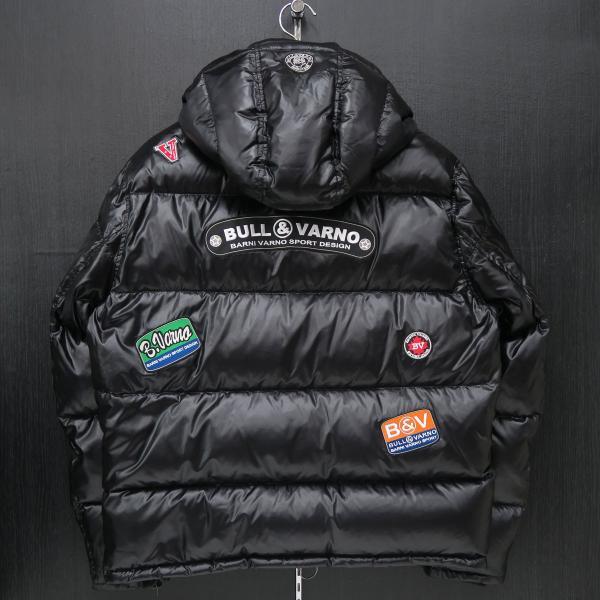 バーニヴァーノ ダウンジャケット 黒 Lサイズ BAW-HDB3009-09 BARNI VARNO 新作|wanwan|02