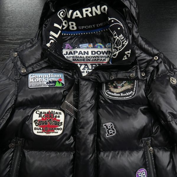 バーニヴァーノ ダウンジャケット 黒 Lサイズ BAW-HDB3009-09 BARNI VARNO 新作|wanwan|03