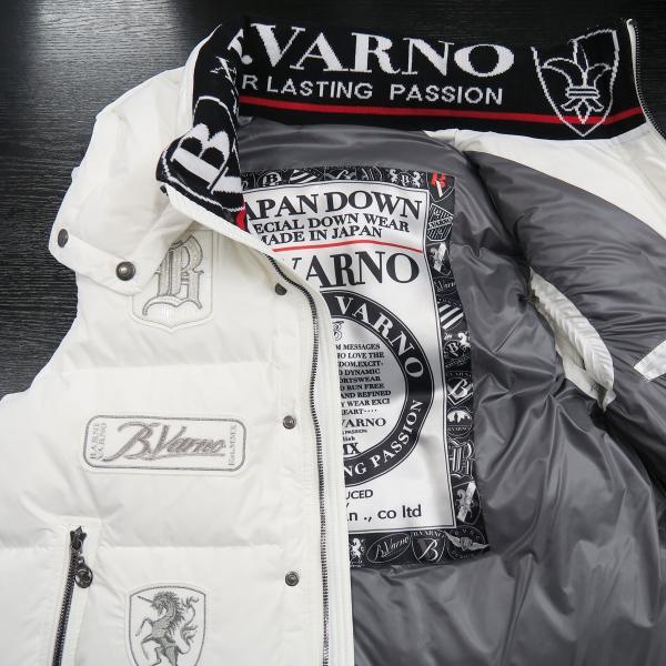 バーニヴァーノ ダウンベスト 白 Lサイズ BAW-HDV3011-01 BARNI VARNO 新作|wanwan|08