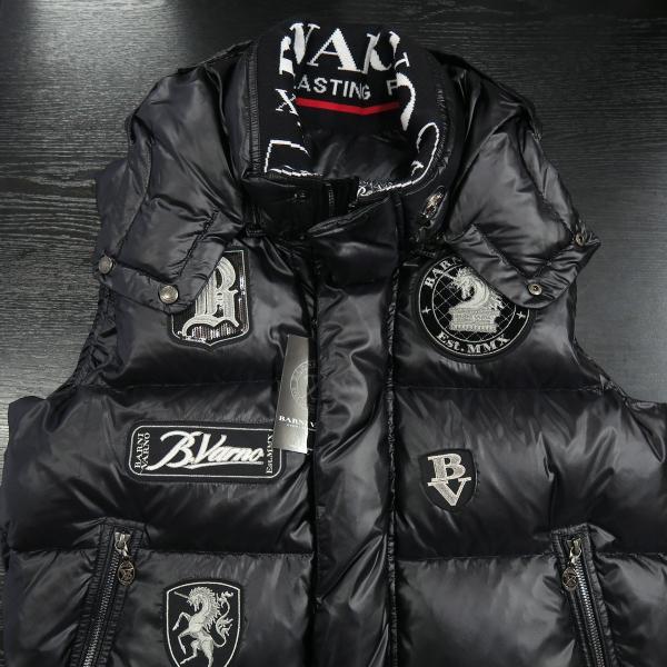 バーニヴァーノ ダウンベスト 黒 M/Lサイズ BAW-HDV3011-09 BARNI VARNO 新作|wanwan|03