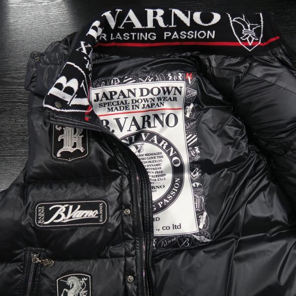 バーニヴァーノ ダウンベスト 黒 M/Lサイズ BAW-HDV3011-09 BARNI VARNO 新作|wanwan|06