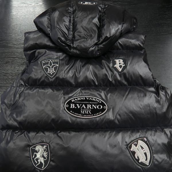 バーニヴァーノ ダウンベスト 黒 M/Lサイズ BAW-HDV3011-09 BARNI VARNO 新作|wanwan|08