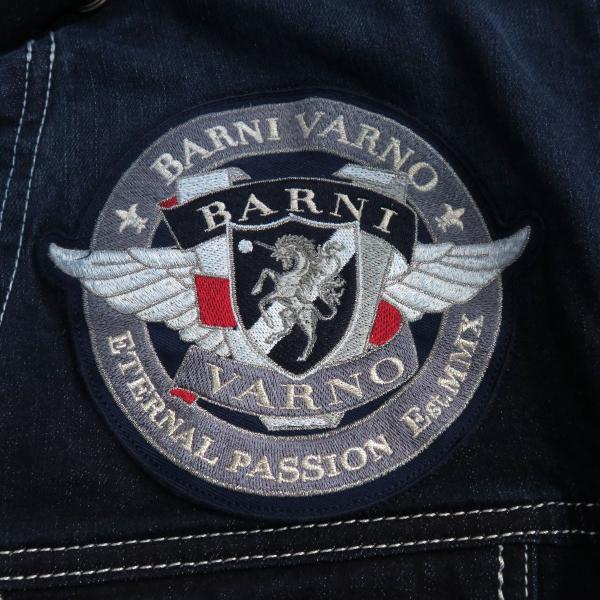バーニヴァーノ Gジャン インディゴ Lサイズ BAW-HJB3036-67 BARNI VARNO|wanwan|08