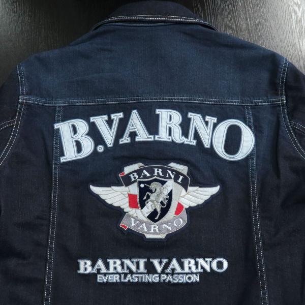 バーニヴァーノ Gジャン インディゴ Lサイズ BAW-HJB3036-67 BARNI VARNO|wanwan|09