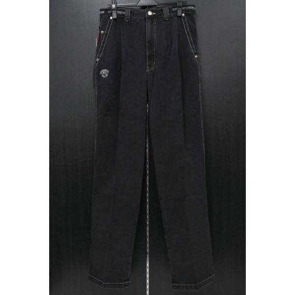 バーニヴァーノ 2タックソフトデニムジーンズ 黒 79-100cm BAW-HJZ3041-09 BARNI VARNO|wanwan|02