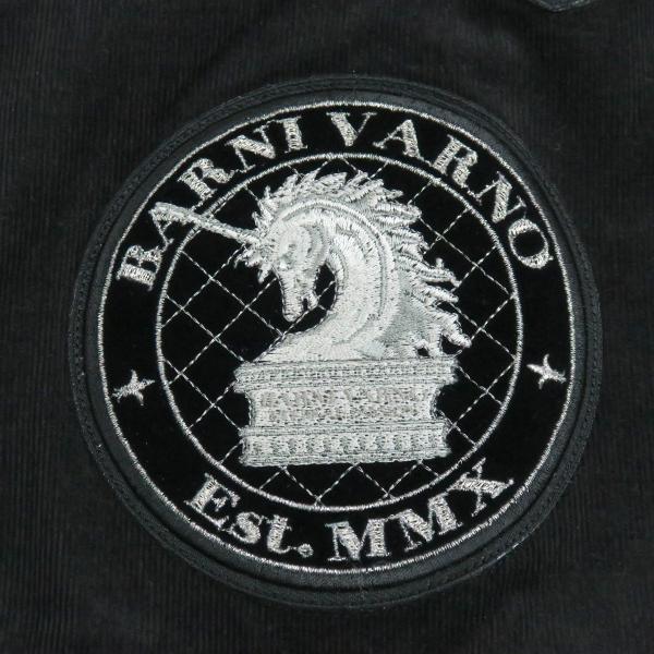 バーニヴァーノ 細コールボタンダウンシャツ 黒 Lサイズ BAW-HSN3060-09 BARNI VARNO|wanwan|05