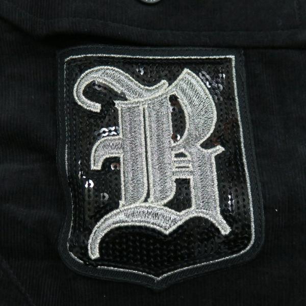 バーニヴァーノ 細コールボタンダウンシャツ 黒 Lサイズ BAW-HSN3060-09 BARNI VARNO|wanwan|06