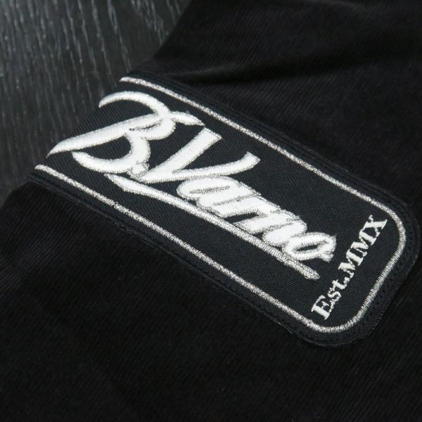 バーニヴァーノ 細コールボタンダウンシャツ 黒 Lサイズ BAW-HSN3060-09 BARNI VARNO|wanwan|07