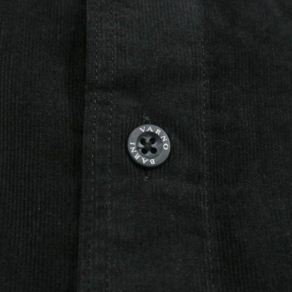 バーニヴァーノ 細コールボタンダウンシャツ 黒 Lサイズ BAW-HSN3060-09 BARNI VARNO|wanwan|09