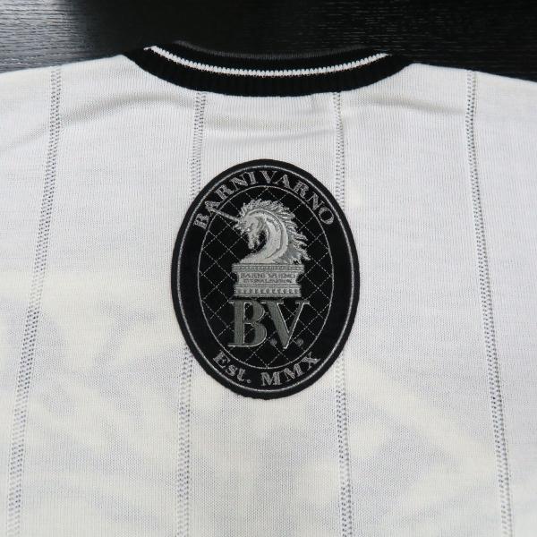 バーニヴァーノ 長袖丸首セーター 白黒 LLサイズ BAW-HSW3013-01 BARNI VARNO wanwan 06