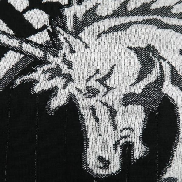 バーニヴァーノ 長袖丸首セーター 黒白 LLサイズ BAW-HSW3013-09 BARNI VARNO|wanwan|05