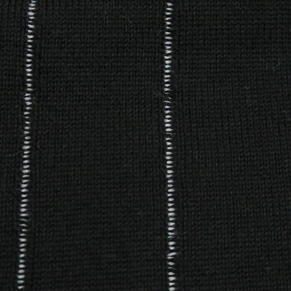 バーニヴァーノ 長袖丸首セーター 黒白 LLサイズ BAW-HSW3013-09 BARNI VARNO|wanwan|06