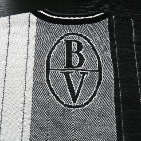 バーニヴァーノ 長袖丸首セーター 白黒 LLサイズ BAW-HSW3015-01 BARNI VARNO 新作|wanwan|07