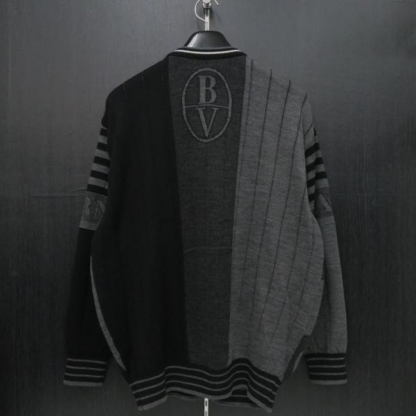 バーニヴァーノ 長袖丸首セーター 黒グレー LLサイズ BAW-HSW3015-09 BARNI VARNO|wanwan|02