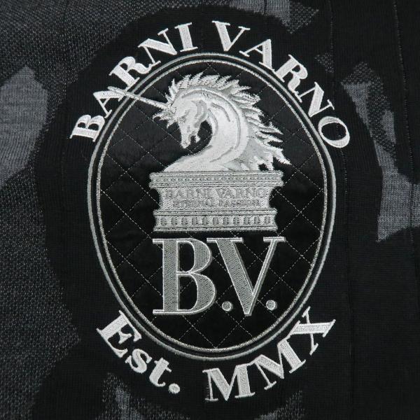 バーニヴァーノ 長袖丸首セーター 黒グレー LLサイズ BAW-HSW3015-09 BARNI VARNO|wanwan|05