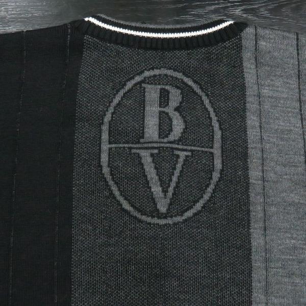 バーニヴァーノ 長袖丸首セーター 黒グレー LLサイズ BAW-HSW3015-09 BARNI VARNO|wanwan|08