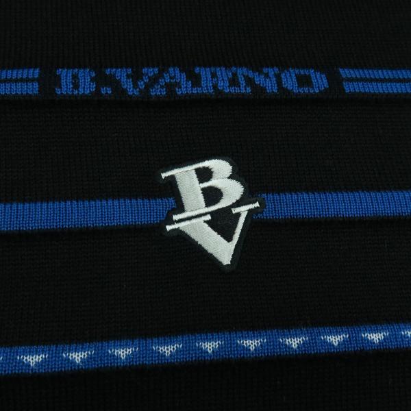 バーニヴァーノ 丸首セーター 黒青 LLサイズ BAW-HSW3018-09 BARNI VARNO|wanwan|05