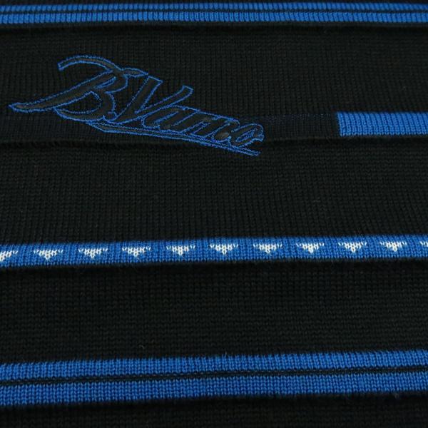 バーニヴァーノ 丸首セーター 黒青 LLサイズ BAW-HSW3018-09 BARNI VARNO|wanwan|06