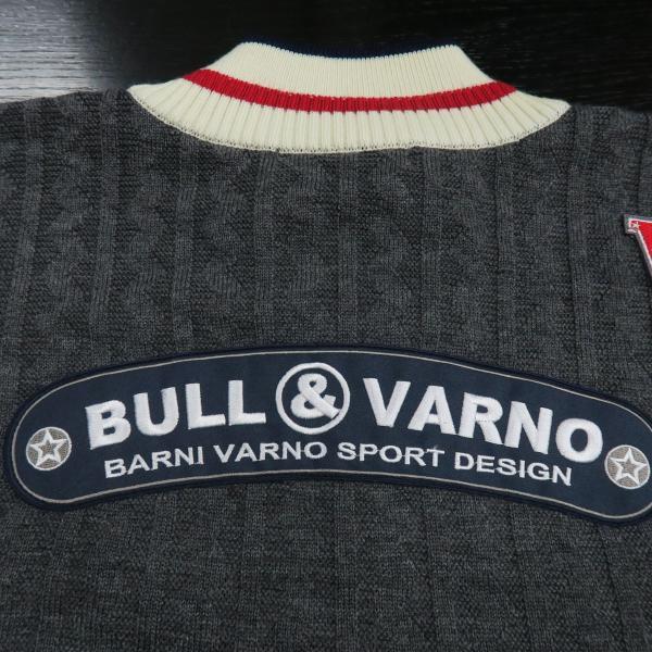 バーニヴァーノ ブルドッグハーフジップセーター オフシログレー Lサイズ BARNI VARNO BAW-HSW3025-01 新作|wanwan|08