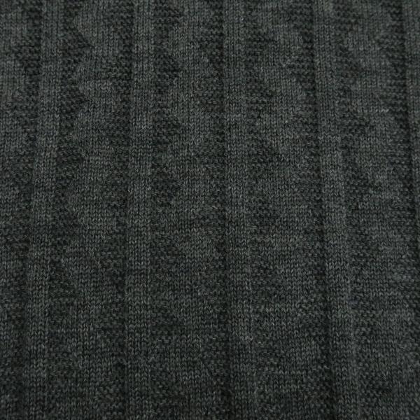 バーニヴァーノ ブルドッグハーフジップセーター グレー黒 Lサイズ BAW-HSW3025-09 BARNI VARNO|wanwan|07