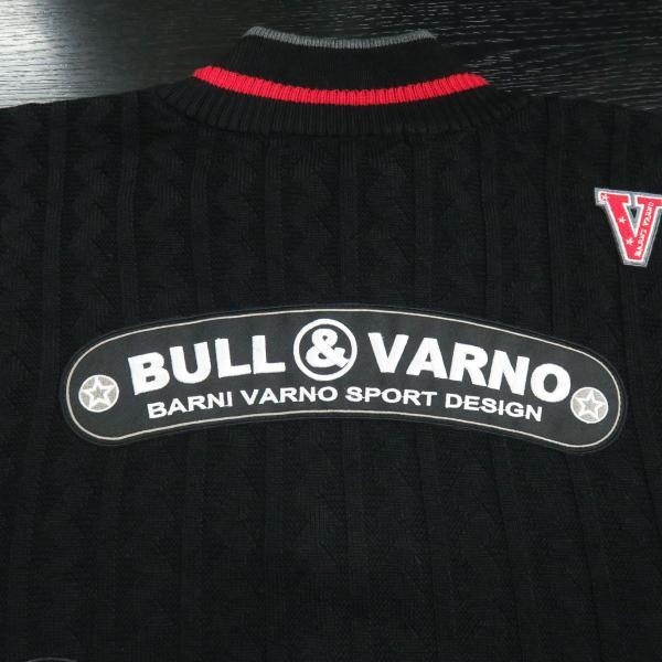 バーニヴァーノ ブルドッグハーフジップセーター グレー黒 Lサイズ BAW-HSW3025-09 BARNI VARNO|wanwan|08