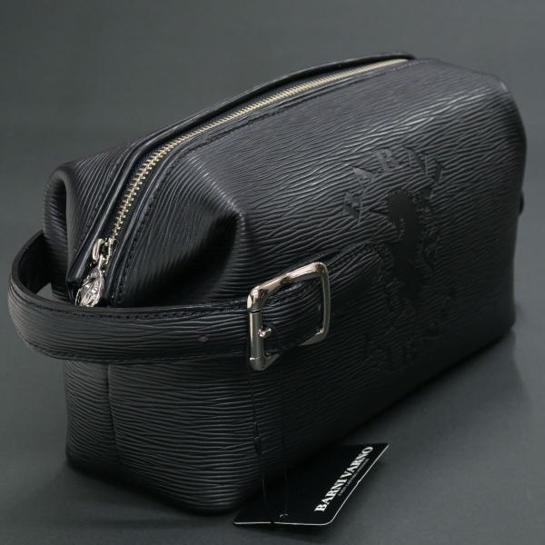 バーニヴァーノ 牛革セカンドバッグ 黒 BSS-EGB1707-09 BARNI VARNO クロコ型押し クラッチバッグ|wanwan|03