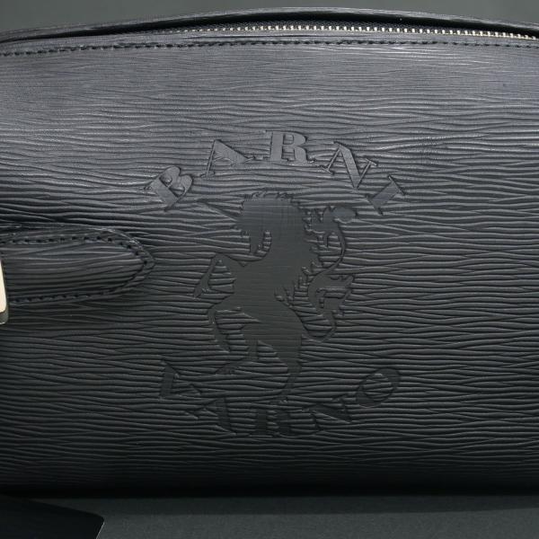 バーニヴァーノ 牛革セカンドバッグ 黒 BSS-EGB1707-09 BARNI VARNO クロコ型押し クラッチバッグ|wanwan|05