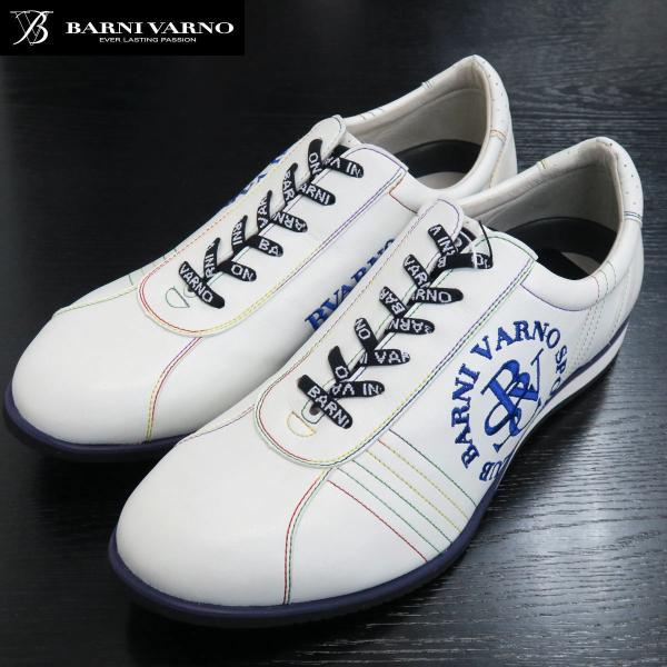 バーニヴァーノ スニーカー 白 BSS-GKS2520-02 BARNI VARNO 靴|wanwan