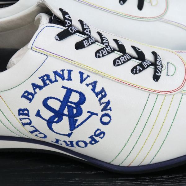 バーニヴァーノ スニーカー 白 BSS-GKS2520-02 BARNI VARNO 靴|wanwan|03