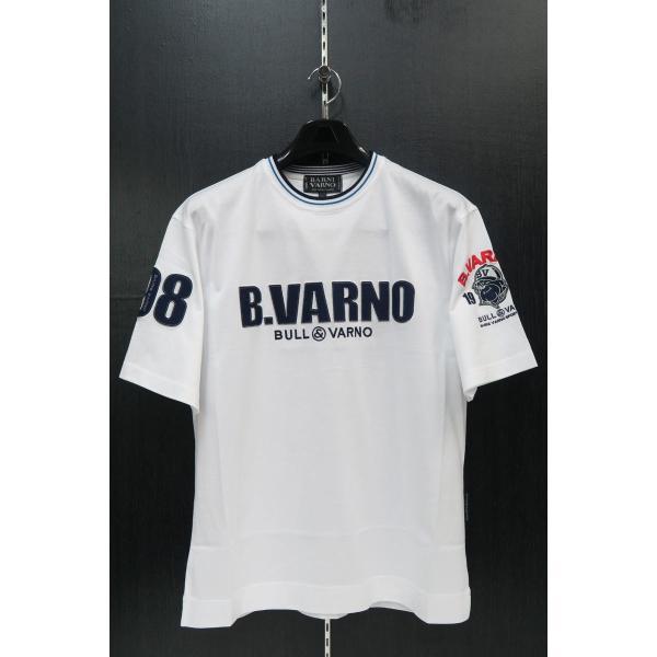バーニヴァーノ 半袖Tシャツハーフパンツ上下セット 白 Lサイズ BSS-GTH2423-01 BARNI VARNO|wanwan|02