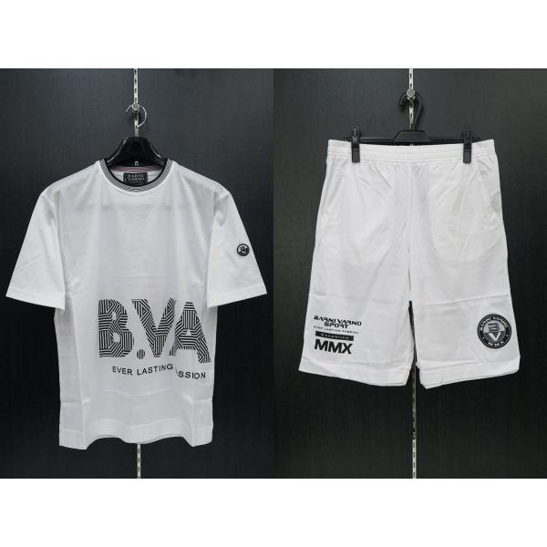 バーニヴァーノ 半袖Tシャツハーフパンツ上下セット 白 LLサイズ BSS-GTS2455-01 BARNI VARNO|wanwan