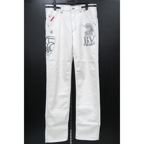 バーニヴァーノ 5ポケットジーンズ 白 82-100cm BSS-HJZ2880-02 BARNI VARNO wanwan