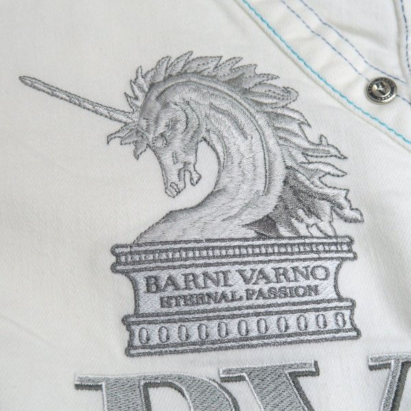 バーニヴァーノ 5ポケットジーンズ 白 82-100cm BSS-HJZ2880-02 BARNI VARNO wanwan 04