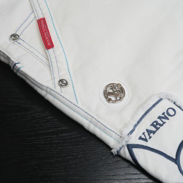 バーニヴァーノ 5ポケットジーンズ 白 82-100cm BSS-HJZ2880-02 BARNI VARNO wanwan 05
