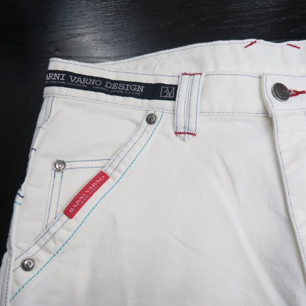 バーニヴァーノ 5ポケットジーンズ 白 82-100cm BSS-HJZ2880-02 BARNI VARNO wanwan 06
