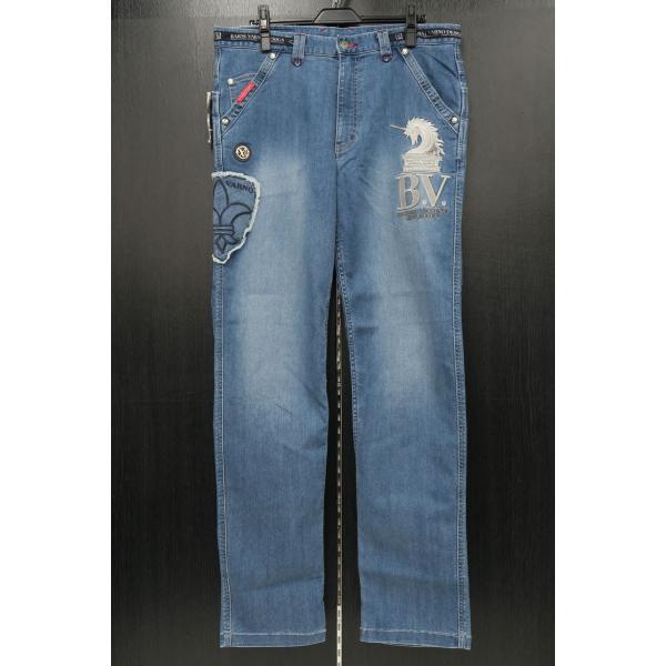 バーニヴァーノ 5ポケットジーンズ 薄いインディゴブルー 82-100cm BSS-HJZ2880-63 BARNI VARNO|wanwan