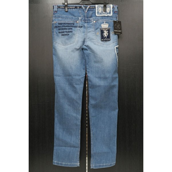 バーニヴァーノ 5ポケットジーンズ 薄いインディゴブルー 82-100cm BSS-HJZ2880-63 BARNI VARNO|wanwan|02