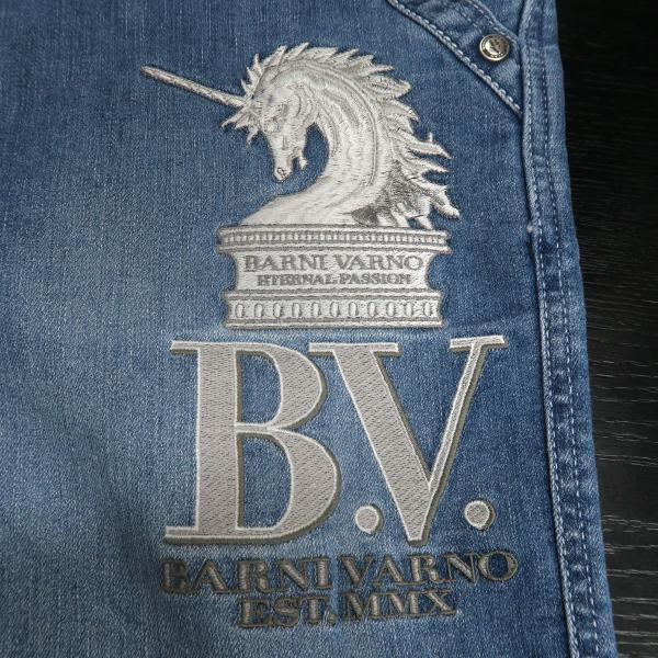 バーニヴァーノ 5ポケットジーンズ 薄いインディゴブルー 82-100cm BSS-HJZ2880-63 BARNI VARNO|wanwan|04