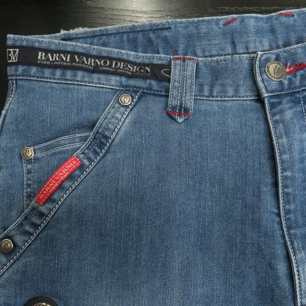 バーニヴァーノ 5ポケットジーンズ 薄いインディゴブルー 82-100cm BSS-HJZ2880-63 BARNI VARNO|wanwan|06