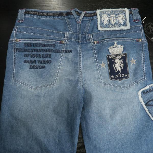 バーニヴァーノ 5ポケットジーンズ 薄いインディゴブルー 82-100cm BSS-HJZ2880-63 BARNI VARNO|wanwan|07
