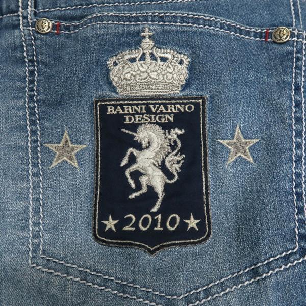 バーニヴァーノ 5ポケットジーンズ 薄いインディゴブルー 82-100cm BSS-HJZ2880-63 BARNI VARNO|wanwan|08