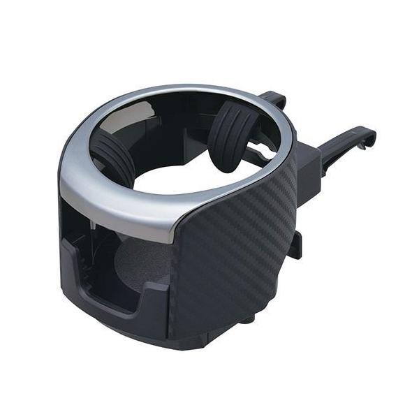 W922 スマホエアコン ドリンクホルダー | 車 ホルダー スマホホルダー iPhone ホルダー スマートフォン ペットボトル 小物 スマホ カーボン