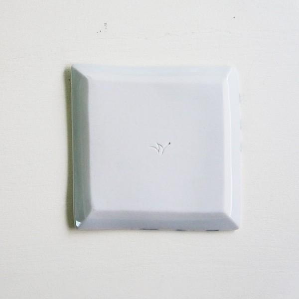 砥部焼 おしゃれ 【スクエアプレート S】 小皿 角皿 取皿 小物入れ 窯元 和将窯 Washo-020|wapal|05