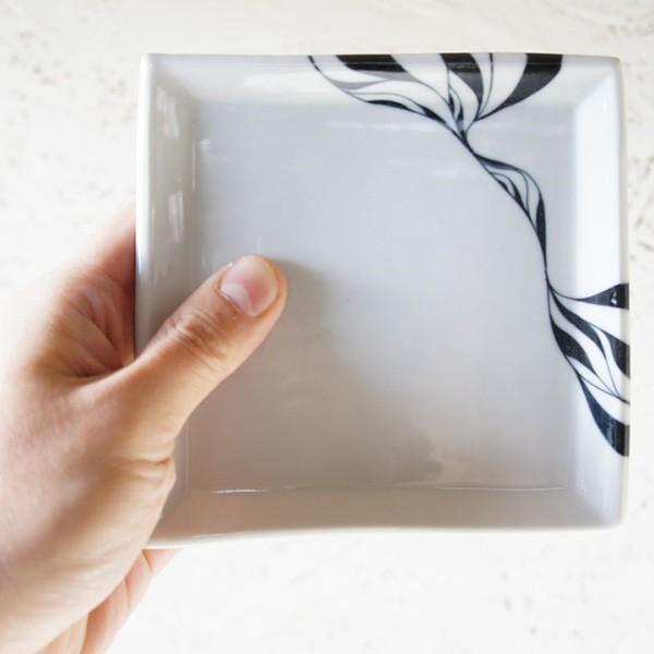 砥部焼 おしゃれ 【スクエアプレート S】 小皿 角皿 取皿 小物入れ 窯元 和将窯 Washo-020|wapal|06