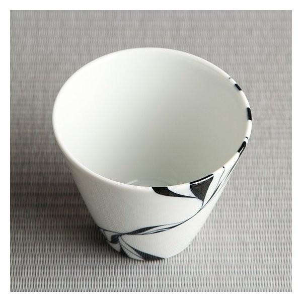 砥部焼 おしゃれ 【フリーカップ スリム】 焼酎カップ ビアカップ モダン 白黒 窯元 和将窯 Washo-106|wapal|04
